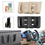 Universal Powerful Sticky Adjustable Dual Slots Car Mount Holder Stand for iPhone Mobile Phone