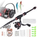 LEO T27772-4 Fishing Tool Carbon Casting Telescopic Fishing Rod Fishing Lure Fishing Reel Combos