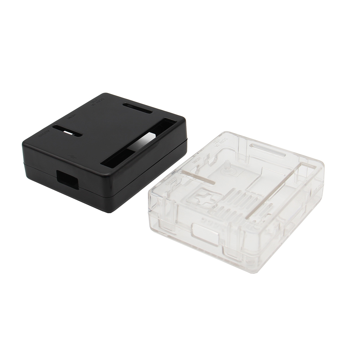 Black/Transparent Color ABS Case for Raspberry Pi Model 3 A+(Plus) Mainboard