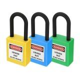 ABS Steel Lock Keyed-Alike Message Padlock Sets Plastic Security Industry Padlock