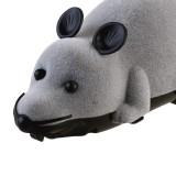 Creative Pet Toys Electronic Remote Control Mouse Pet Cat Dog Toy Lifelike Funny Flocking Rat Toy