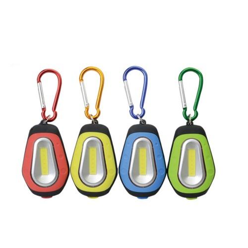 3W Mini COB Keychain Flashlight Camping Work Night Light Portable Magnetic Emergency Pocket Lamp