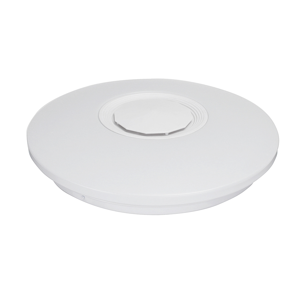 Rgbw app voice control dimmable bluetooth speaker led ceiling light fixture work with google alexa