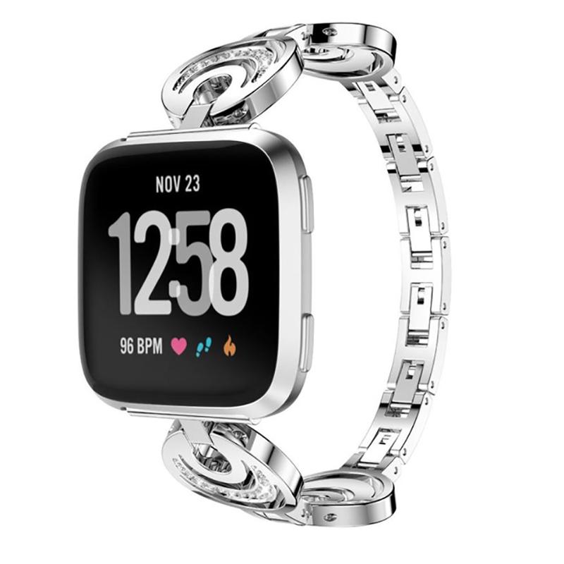 KALOAD Metal Smart Watch Replacement Band Women Bracelet Belt Strap For Fitbit Versa Smart Watch