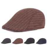 Winter Men Women Woolen Blending Painter Beret Caps Outdoor Thicken Newsboy Hunting Hat