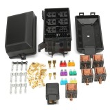 Fuse Box Auto 6 Relay Block Holders 5 Road Fit For Car Trunk ATV Insurance