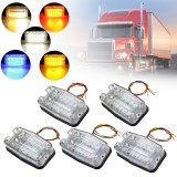 12V-24V 12 LED Car Side Marker Lights Indicator Side Signal Strobe Lamp for Truck Trailer Boat