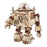 DIY Model 3D Puzzle Music Box Wooden Craft Kit Robot Machinarium Toys with Light Best Handmade Gift