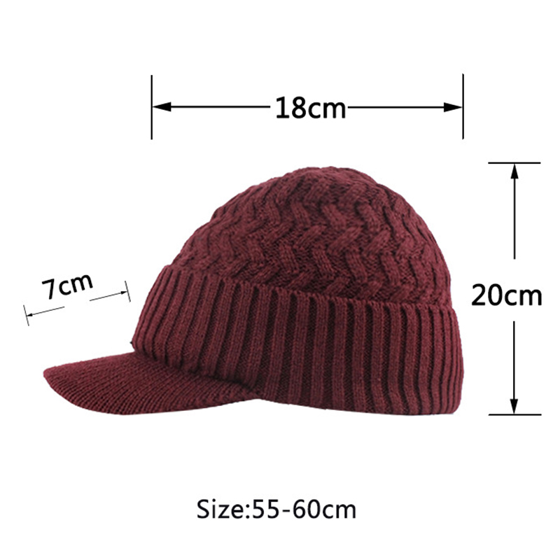 Outdoor Plus Velvet Knit Hat Scarf Set Spot Outdoor Winter Warm Ski Turtleneck Beanie Cap Earmuffs