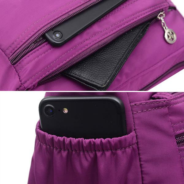 Women Nylon Shoulder Bag Outdoor Sports Waterproof Crossbody Bag