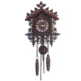 Cuckoo Wall Clock Hanging Handcraft Wall Clock Decoration Art Vintage Bird Swing Wood Cuckoo Clock