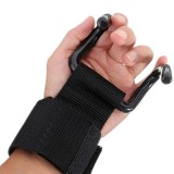 2Pcs Weight Lifting Support Strap Hook Gym Fitness Weightlifting Training Fitness Wrist Dumbbell