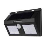 40 LED Solar Powered PIR Motion Sensor Wall Lamp Waterproof Security White Light Garden Outdoor