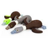 Cartoon Canvas Dog Toy Cute Big Geese Shaped Sound Pet Toys Chew Squeaker Squeaky