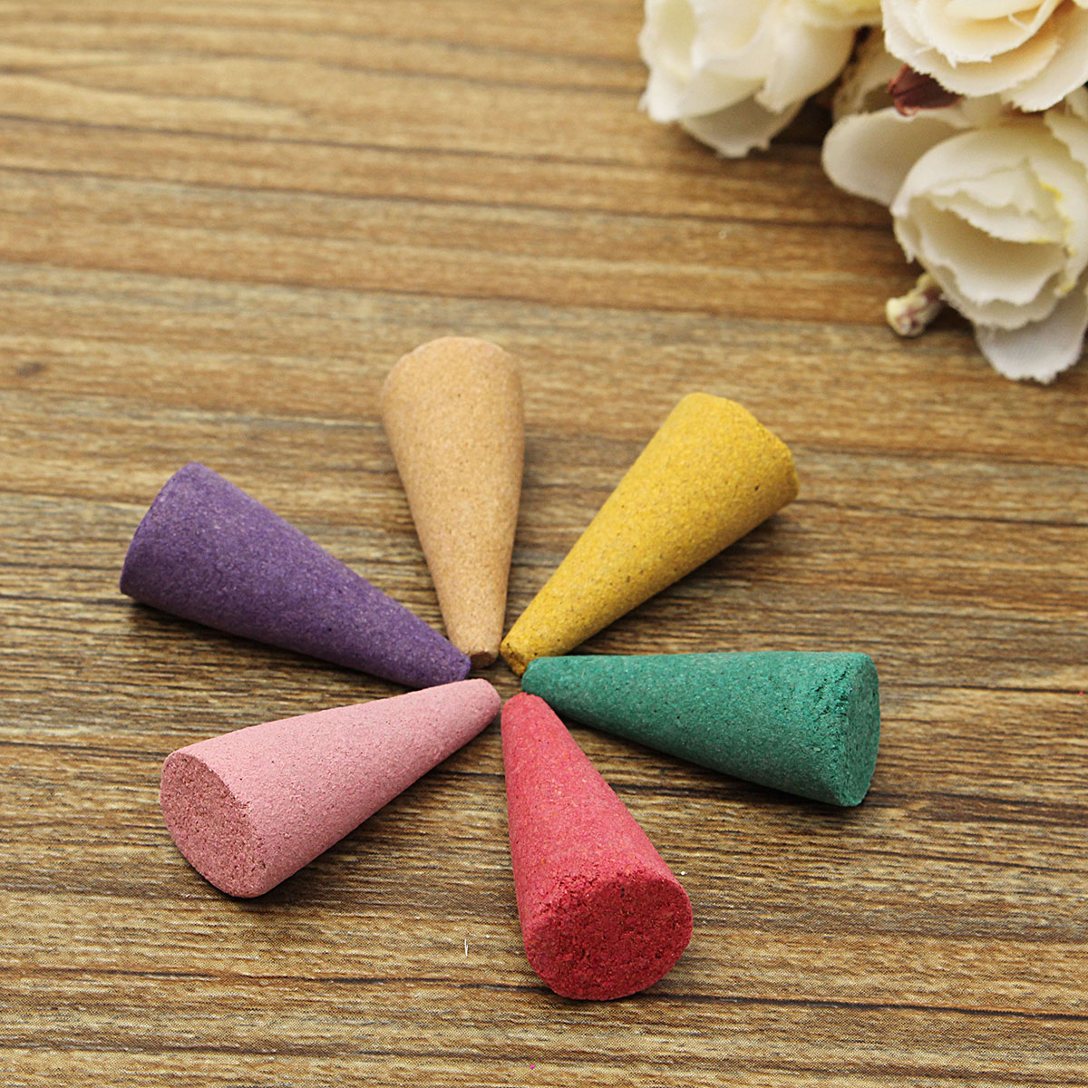 80Pcs/Box Natural Backflow Incense Cones Mix Fragrance Relax Burner Aromatherapy Tower Incense