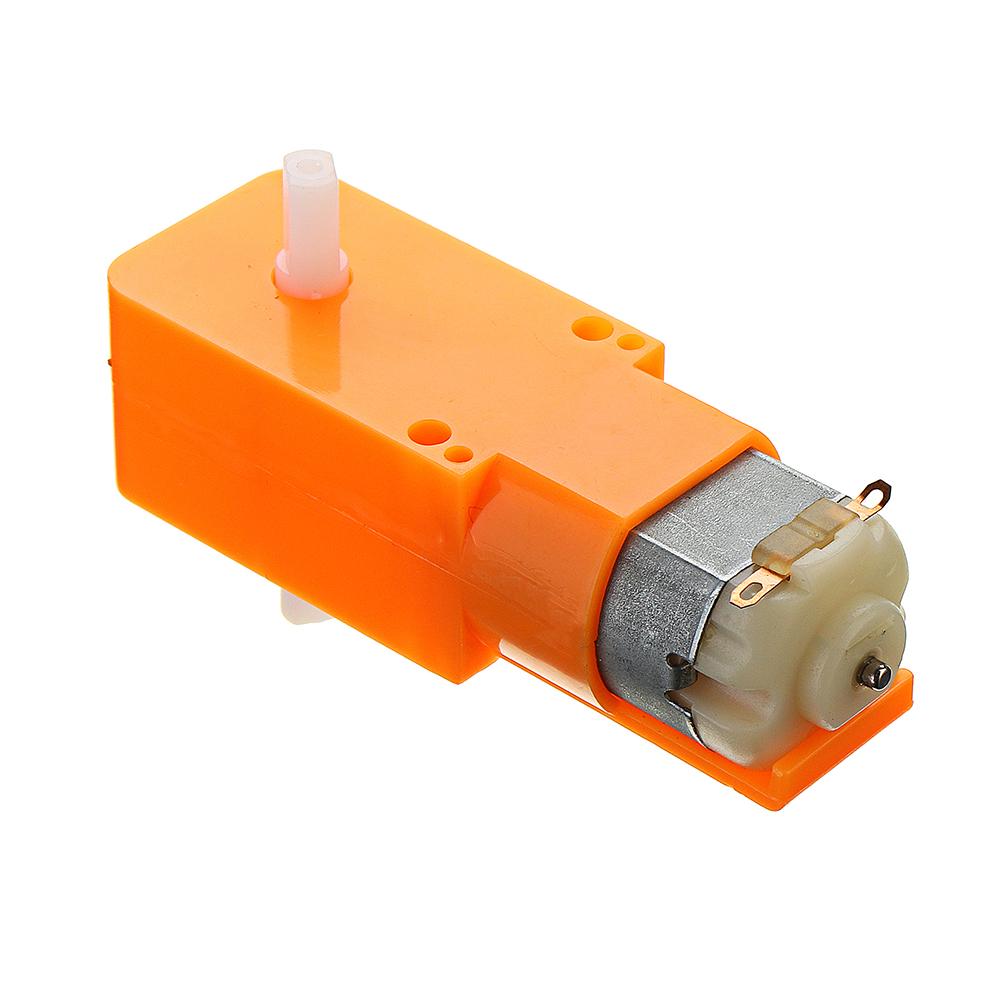 3Pcs Orange Rubber Wheels + 3-6v TT Motors DIY Kit For Arduino Smart Chassis Car Accessories