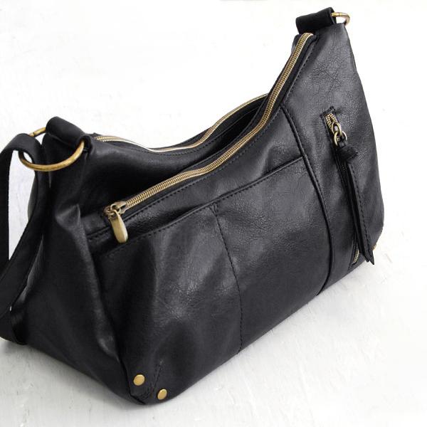 Brenice Women Multi-pockets Solid Wax Oil Skin Faux Leather Shoulder Bag  Crossbody Bag a1ee48ad4c089