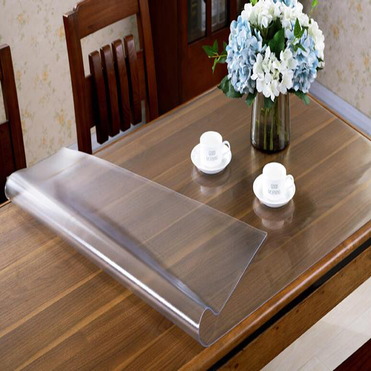 Honana PVC Transparent Soft Glass Crystal Plate Plastic Frosted Tablecloth Waterproof PVC Table Mat