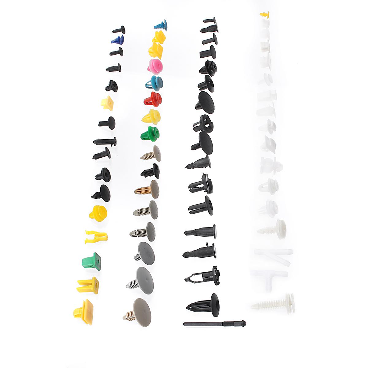 500Pcs Mixed Plastic Car Fastener Clip Bumper Fender Trim Kit Rivet Door Panel