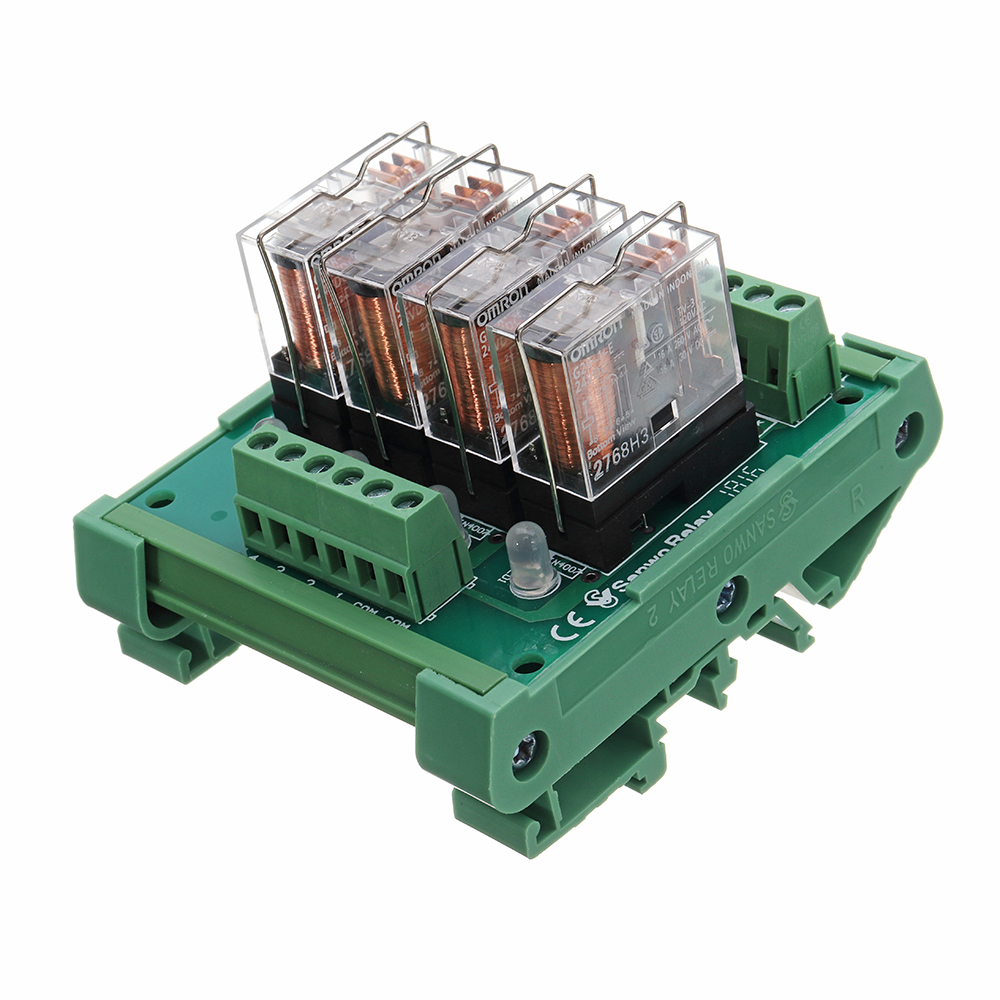TKG2R-1E-K424 4 Channel Relay Module PLC Amplification Board Controller  With Indicator Light DC 24V