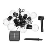 3.5M Solar Powered 10 LED Bulb String Light Fairy Lamp Outdoor Festival Christmas Party Decor