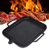 2-4 People BBQ Barbecue Aluminum Frying Grill Pan Plate Non Stick Coating Cookware Induction Cooking