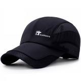 Men Summer Outdoor Quick-drying Breathable Baseball Cap Letters Mesh Adjustable Visor Hat