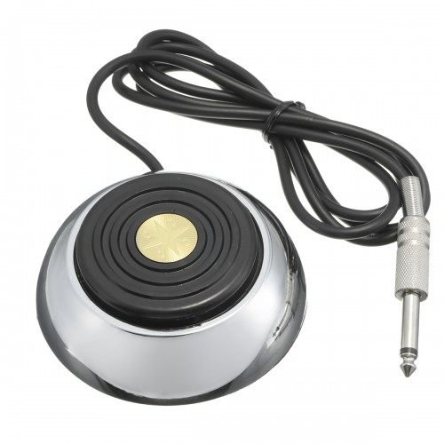 Stainless Steel Round Foot Pedal Switch Power Supply Pedals For Tattoo Machine