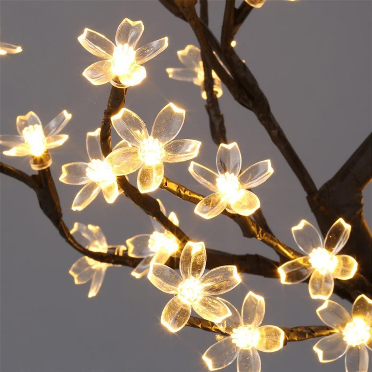 45cm LED Cherry Blossom Bonsai Sakura Tree with 72 LED Fairy Light Table Lamp