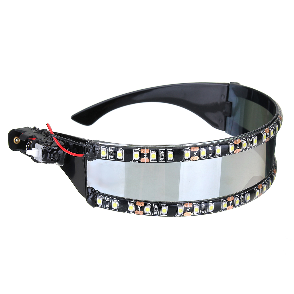 LED Motorcycle Glasses Cosplay Holiday Decoration Halloween Gift Festival Nightclub Stage Props