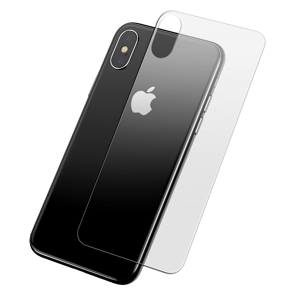 buy online ca400 a6023 Baseus 0.3mm Scratch Resistant Anti Fingerprint All Glass Back Screen  Protector For iPhone XS Max