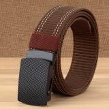 Men Casual Outdoor Casual Nylon Belt Trendy Alloy Buckle Thick Belt