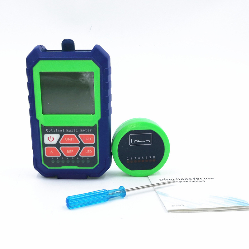 2 IN 1 Optical Power Meter  with RJ45 Optical Fiber Tester Self-Calibration Network Cable Tester