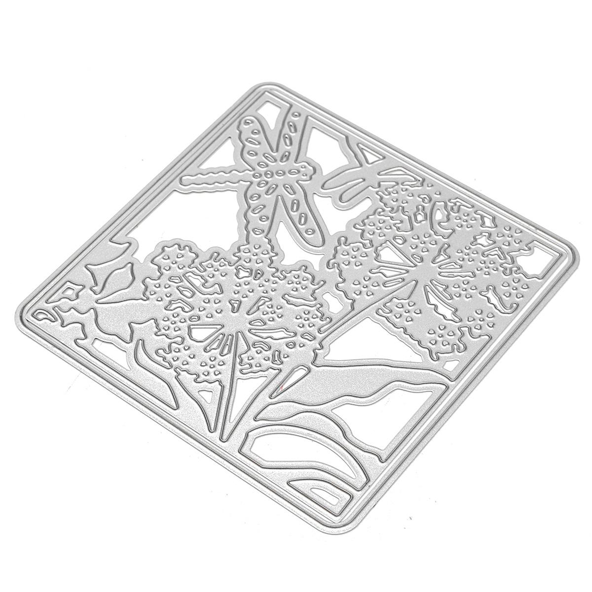 Flower Dragonfly Cutting Dies Stencil DIY Scrapbook Photo Album Cards Paper Decor Craft