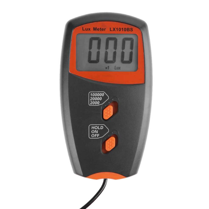 High Precision Tester Light Meter Handheld Digital lux Meter LX1010BS Light Measurement Range:1~100,000Lux