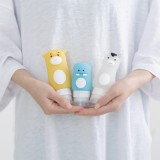 Home Bathroom Silicone Cute Animal Shape Portable Travel Shower Lotion Storage Bottles