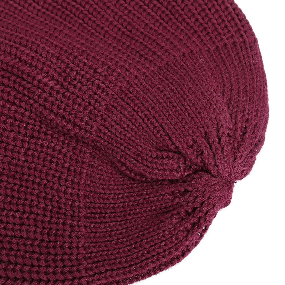 Winter Vintage Men Women Windproof Warm Knit Beanie Cap Outdoor Slouch Skullcap