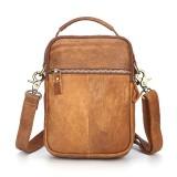 Men Genuine Leather Crossbody Bag Multi-slot Vintage Shoulder Bag