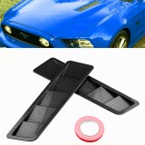 ... 2Pcs ABS Car Side Vent Air Flow Fender Cover Trim Intake Cooling Panel Stickers for Ford