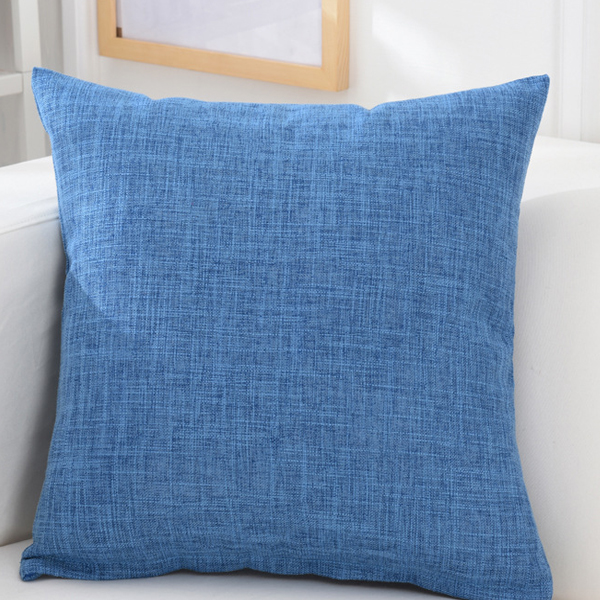 45x45cm Pillow Cover Cotton Linen Camping Pillow Case Cushion Covers Waist Cushion Protactor