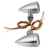Pair 10mm Motorcycle LED Brake Turn Lights For Harley Cruiser Chopper Indicator Lights