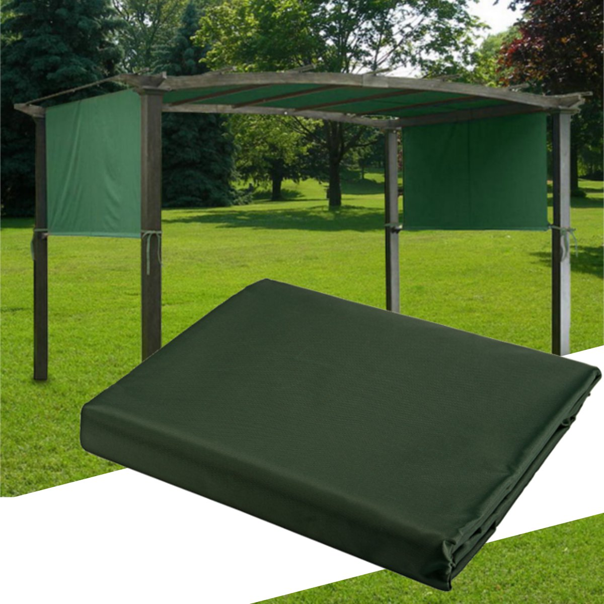 5.2x1.2M Sun Shade Pergola Canopy Outdoor Camping Tent Sunshade Cover Garden Patio Shelter
