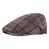 Men Women Winter Stripe Cotton Blending Beret Caps Fashion Stripe Newsboy Hunting Hat