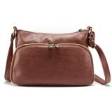 Brenice Women Multi-pocket Solid Faux Leather Crossbody Bag Shoulder Bag