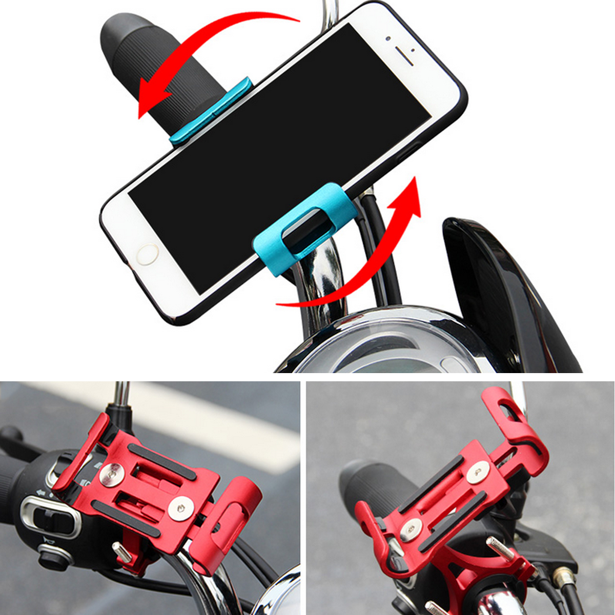 BIKIGHT Xiaomi Electric Scooter Motorcycle E-bike Bike Bicycle Cycling Phone Holder for iPhone
