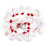 Battery Operated 1.5M 3M Christmas Snow Man LED Fairy String Light  Christmas Holiday Decor
