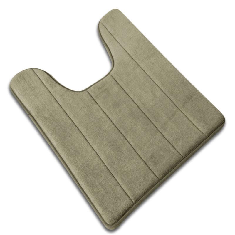 Coral Fleece Carpet Bathroom U-shaped Cotton Toilet Bathroom Carpet Mat Memory Foam Bath Floor Mats