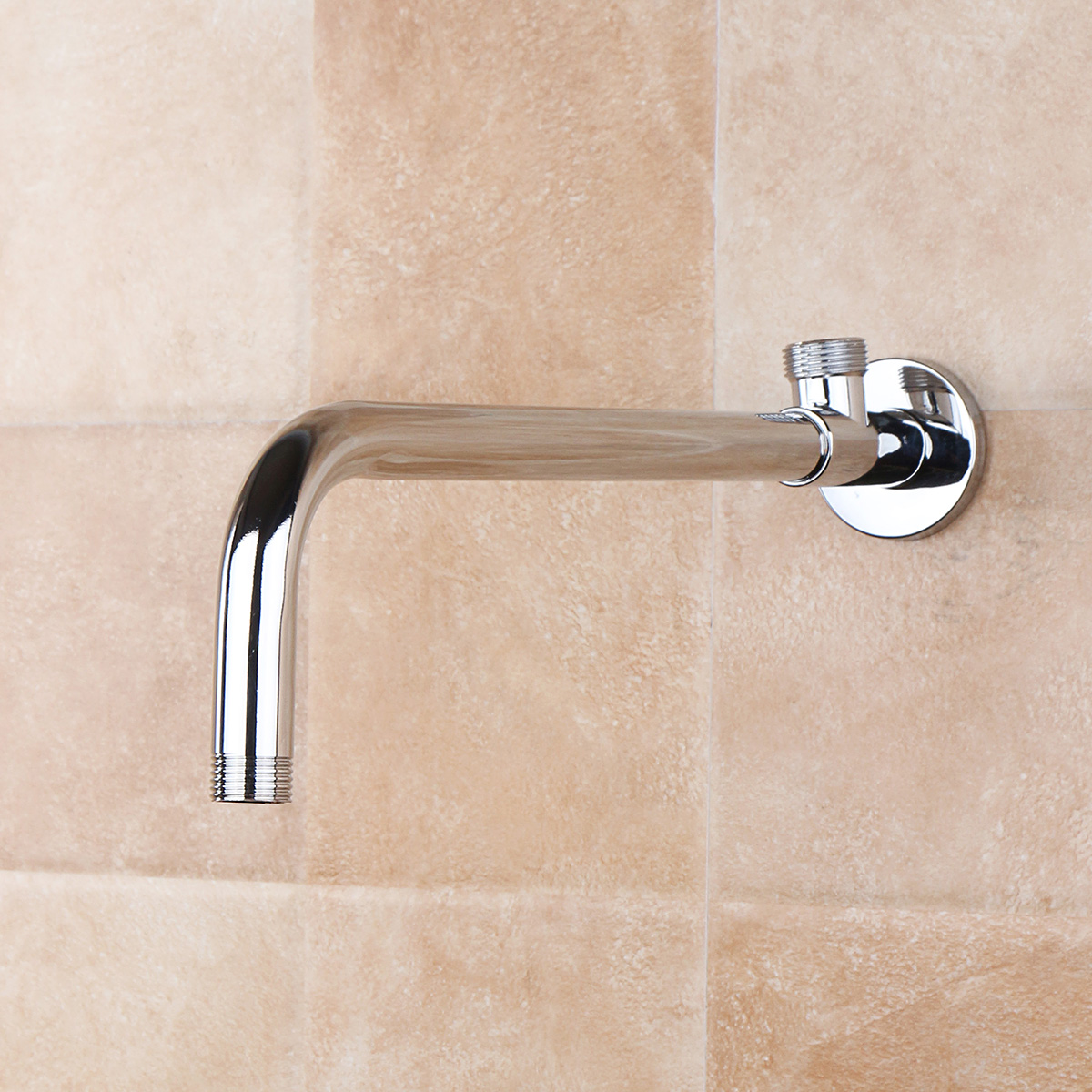 Stainless Steel Shower Extension Arm Home Bathroom Wall