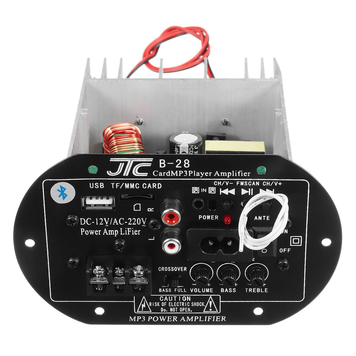 12V 220V Bluetooth Power Amplifier High Power Subwoofer Car Amplifier Board