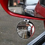 3R 70MM Car Right Side Blind Spot Rearview Mirror HD 360 Wide Angle Reversing Auxiliary Mirror